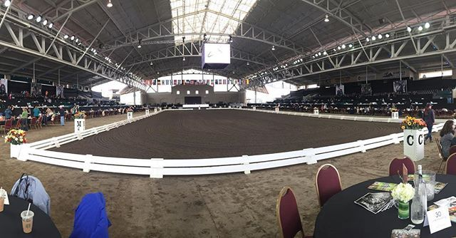 Del Mar Fairgrounds and Racetrack. Set up for Carl Hester, April 8 & 9, 2017. *Dressage Convention lV* . . #dressage #dressagegirl #dressagehorse #dressagerider #equestrian #equestrianstyle #equestrianlife #equestrienne #equestriangoals #olympicdressage #dressageolympians #delmar #sandiegoconnection #sdlocals #delmarlocals - posted by Lauren Martin https://www.instagram.com/lauren_dressage. See more post on Del Mar at http://delmarlocals.com