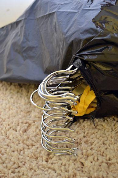Trash-Bag-over-hanging-clothes