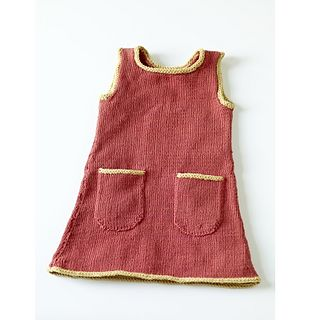 Knit Sundress in Aran. 1 - 5yrs. Can do lots of variations to this as shown on Ravelry.