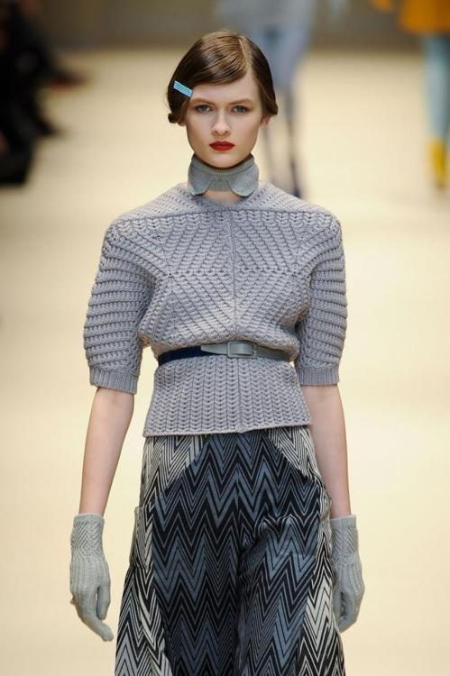Cacharel Fall 2012. hair.