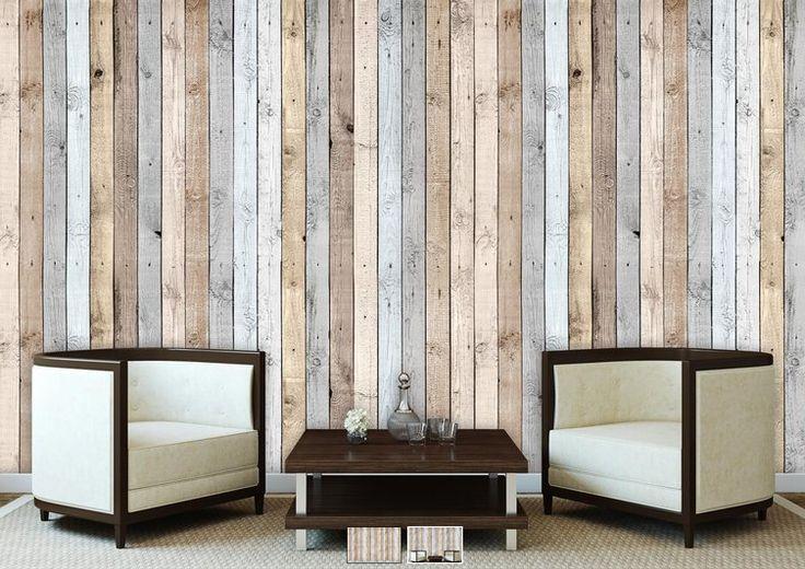 houten planken fotobehang