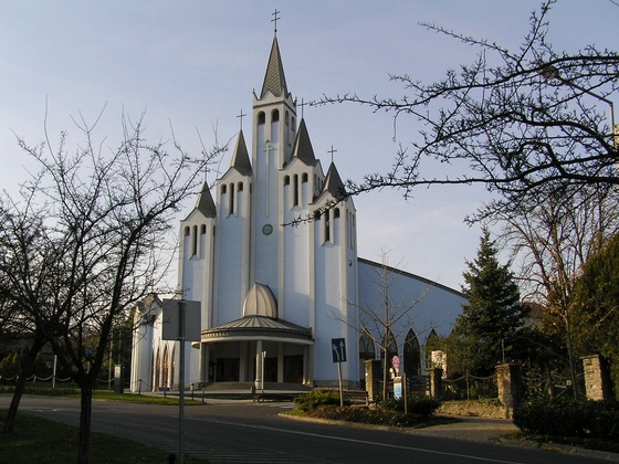 Imre Makovecz designed by Imre Holy Spirit Church. Hévíz