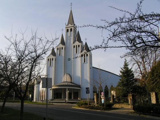 Imre Makovecz designed by Imre Holy Spirit Church. Hévíz