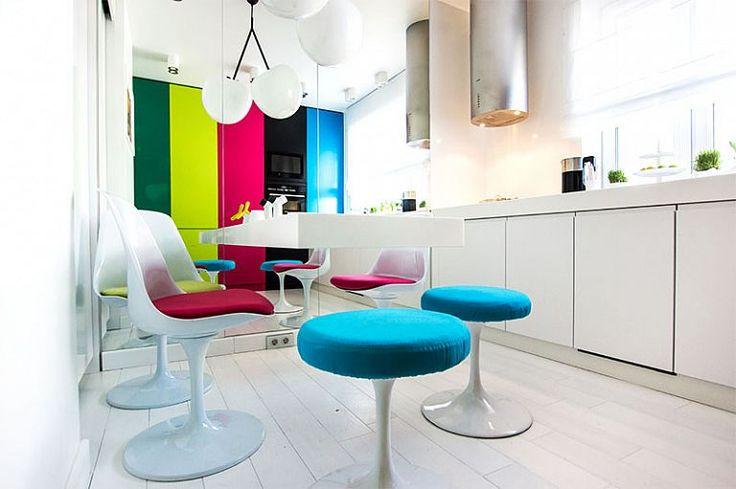 Multicolor interior decor! Bright up your home! #colorful #design #multicolor #interiordesign