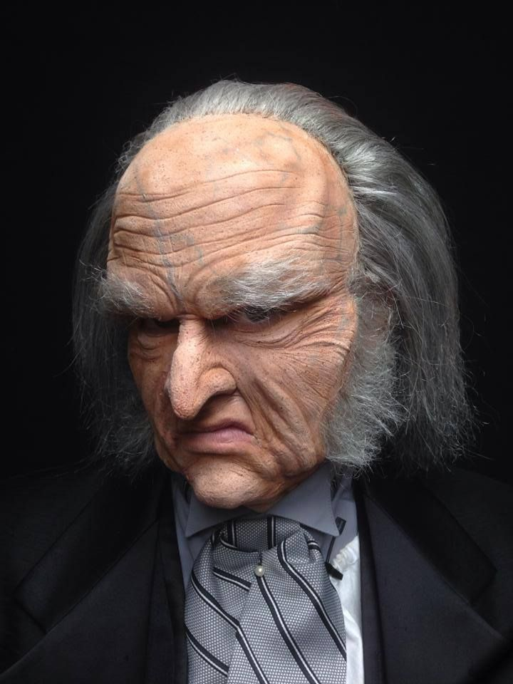 """Ebenezer Scrooge from Jax Theatre's """"A Christmas Carol"""" - makeup by RJ Haddy"""