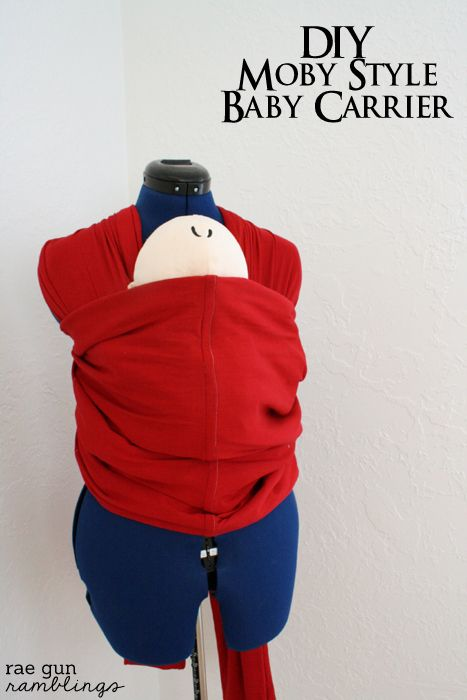 Homemade Moby style baby carrier tutorial with free pattern at Rae Gun Ramblings