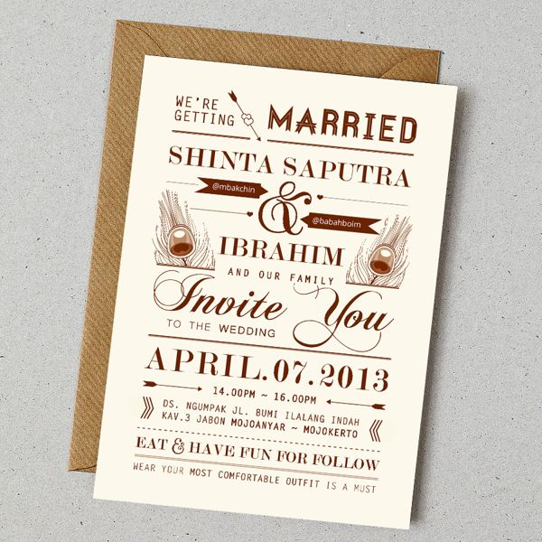 Konsep Undangan Pernikahan Indonesia - A Wedding Invitation