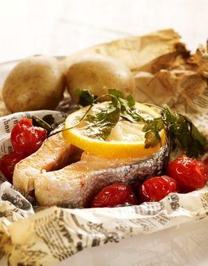 Laksekoteletter med cherrytomat | www.greteroede.no | www.greteroede.no