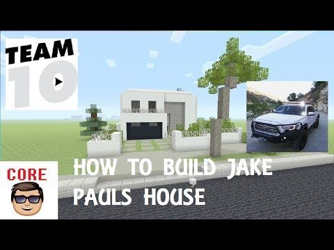 http://minecraftstream.com/minecraft-tutorials/how-to-build-jake-pauls-house-in-mincraft/ - HOW TO BUILD JAKE PAULS HOUSE IN MINCRAFT  THE TEAM10 YOUTUBE CHANNEL-https://www.youtube.com/channel/UCbEn1kwHr0TPmC9VPWIA_Mw          Yo what is up i am a small You Tuber that wants to make it big and entertain you guys; if you want to help me play subscribe and leave a like. follow me on Instagram-...