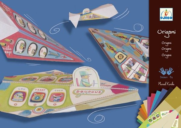 Djeco - Origami Paper Planes Blue  When you're raising boys you can't go past a paper aeroplane, and this one even has passengers!   #EntropyWishList  #PinToWin  #Djeco #obsessedwithDjeco #raisingboys