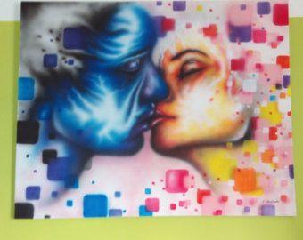 Ursprüngliche abstrakte Malerei moderne Kunstwerk Acryl