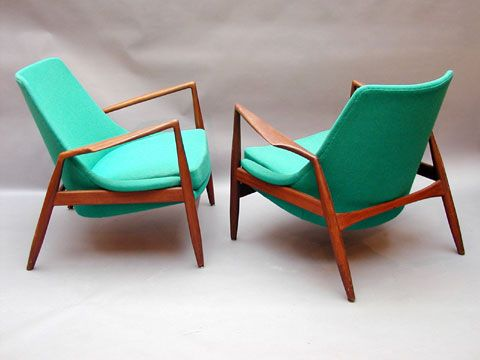 Mid-Century chairs (love the color, too)