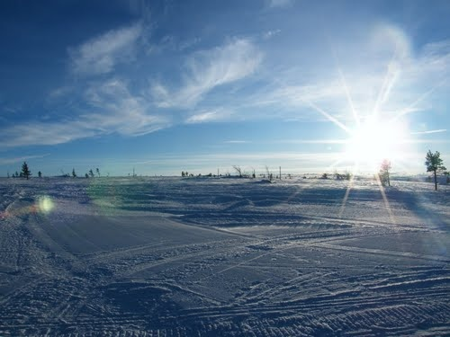 2013-03-04 I feel like the countdown has begun. In less than two weeks I'll have that kind of view for a whole week. Hopefully this nice weather so I get a bit of use of my prescription sunglasses! #hundfjället #sweden #snow #skiing