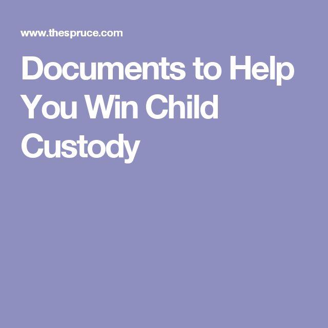 Documents to Help You Win Child Custody