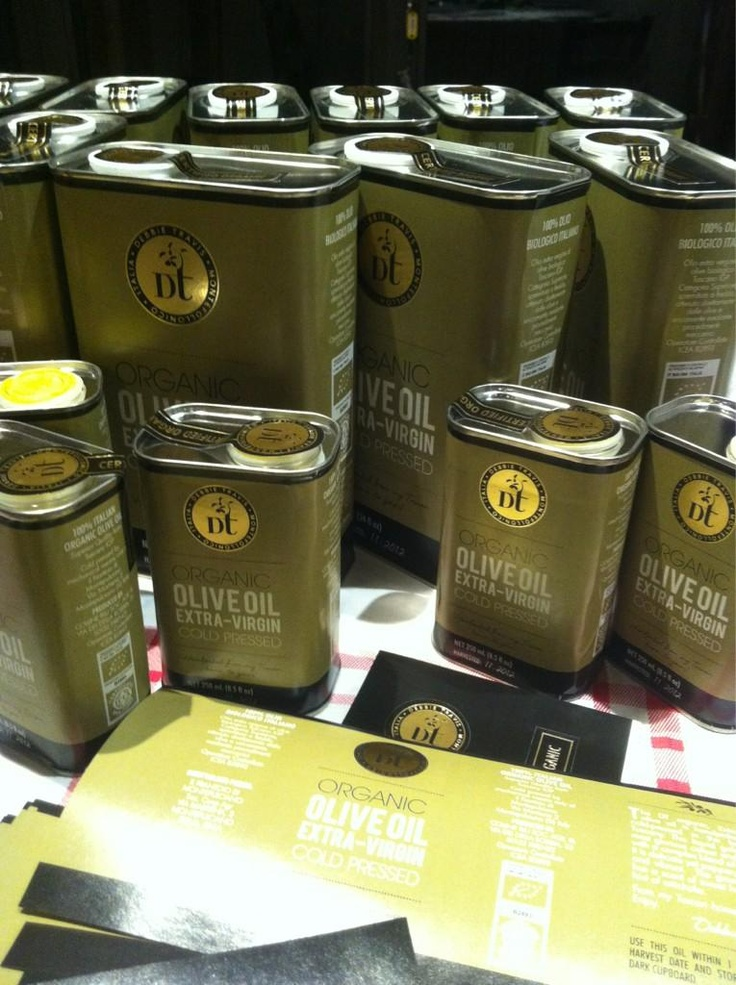 I have been labeling our first harvest of Tuscan olive oil-what a job!