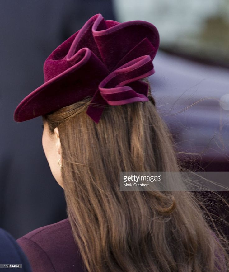 Catherine, Duchess Of Cambridge Attends St Mary Magdalene Church, On The Royal Estate In Sandringham, Norfolk For The Christmas Day Church Service. (Photo by Mark Cuthbert/UK Press via Getty Images)
