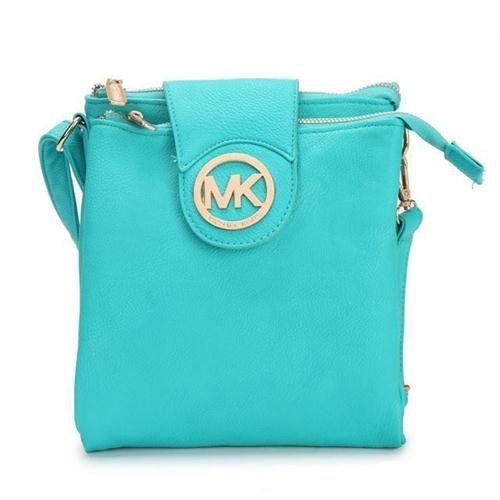 Cheap Michael Kors Fulton Pebbled Large Blue Crossbody Bags Clearance