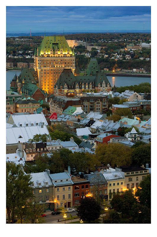 Good Night Quebec - Quebec, Quebec.  Great place to experience French culture--the food is amazing--without going to Europe.  Love it here--stay at the Chateau Frontenac (its the huge bldg in the background).