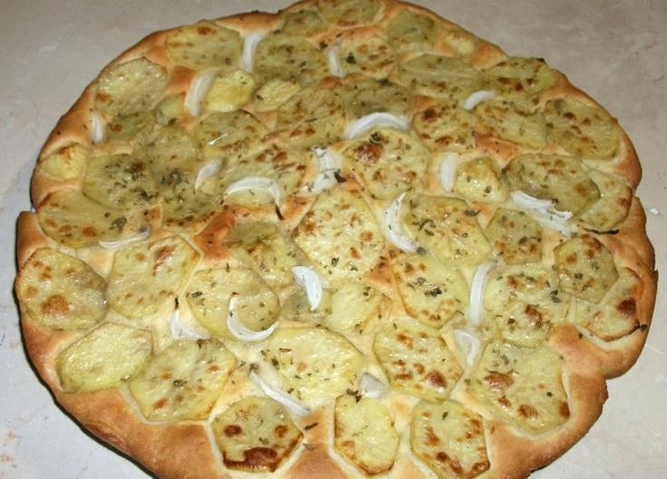 focaccia con patate e cipolla