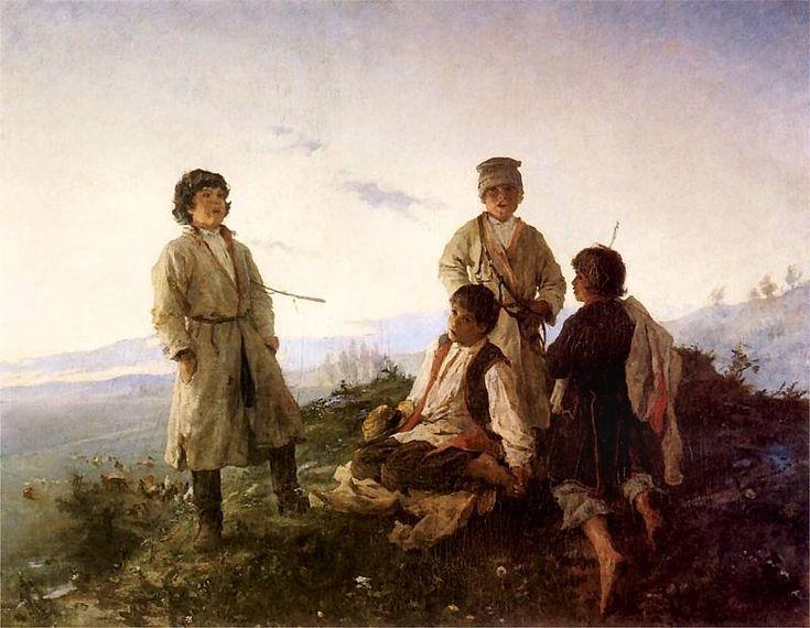 Witold Pruszkowski - Kiedy ranne wstają zorze, 1876