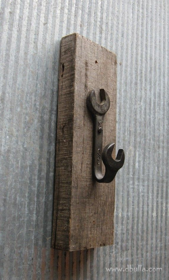 Shabby Chick WRENCH HOOK by dbulla on Etsy, $6.00