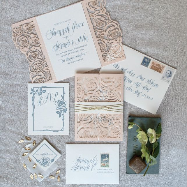Бумажное кружево: свадебная полиграфия с узорами