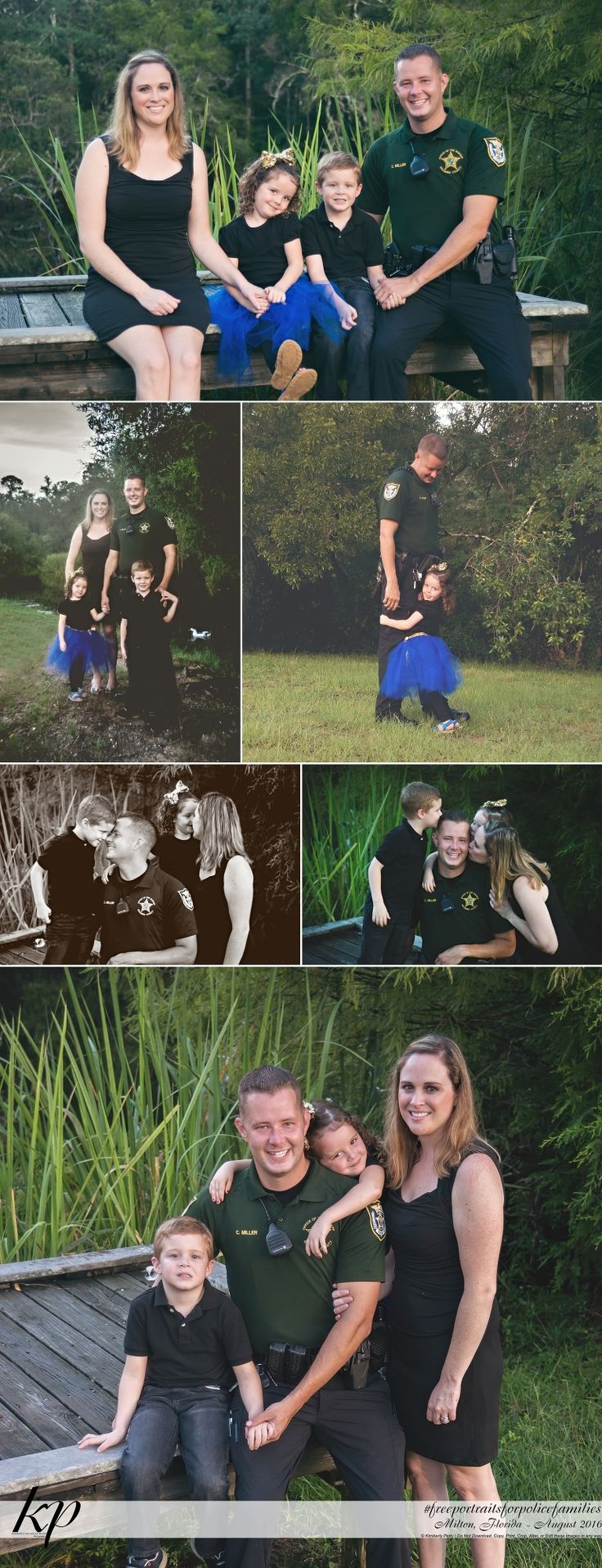 Free Portraits for Police Families 2016 | Milton Florida Photographer » Kimberly Petty Photography