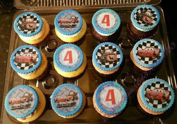 Pixar cars cupcakes