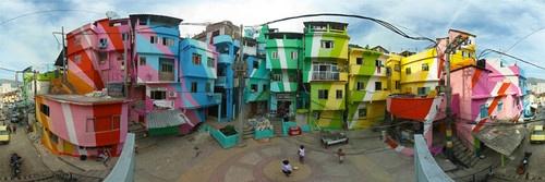 Cores das favelas.