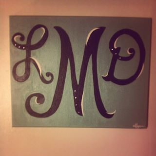 Painted my initials on canvas!
