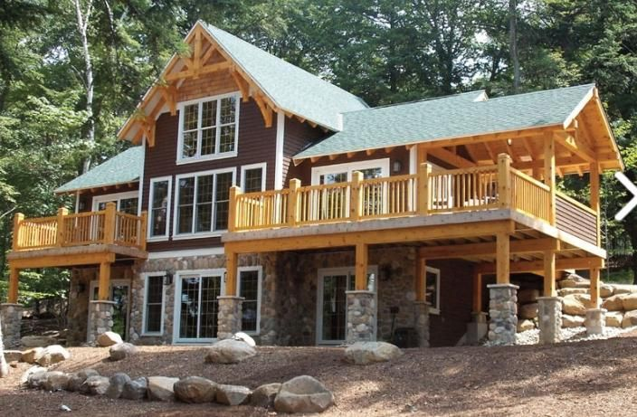 timber frame house picture