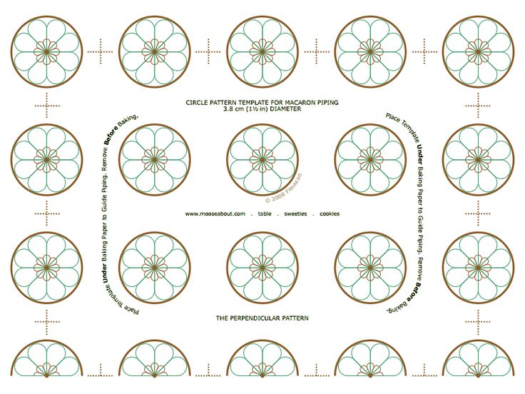 Cake piping templates cake ideas and designs for Macaron baking sheet template