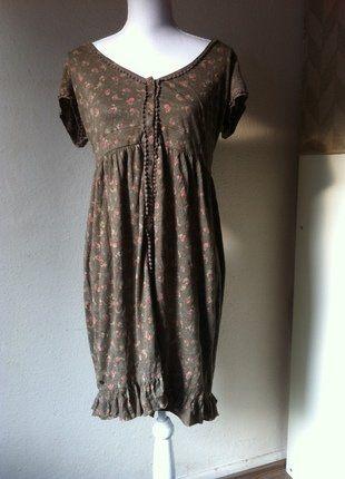 Kaufe meinen Artikel bei #Kleiderkreisel http://www.kleiderkreisel.de/damenmode/klassische-kleider/145578020-romantsiches-vintage-kleid-edc-braun-mit-bluten-l
