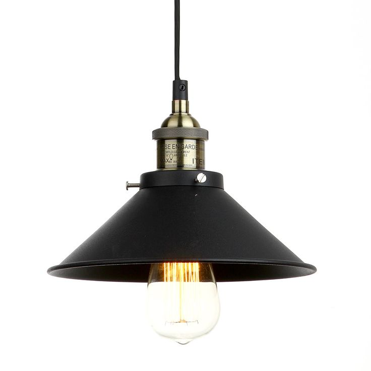 Vintage industrial lighting iron 1 light pendant american for Farmhouse style kitchen lighting