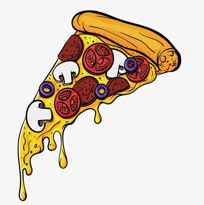 Cartoon Pizza Pizza Drawing Pizza Vector Pizza Art