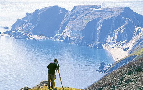 As we launch a new series of exclusive National Trust walks, Nicholas Crane   heads for a hike on Lundy Island.