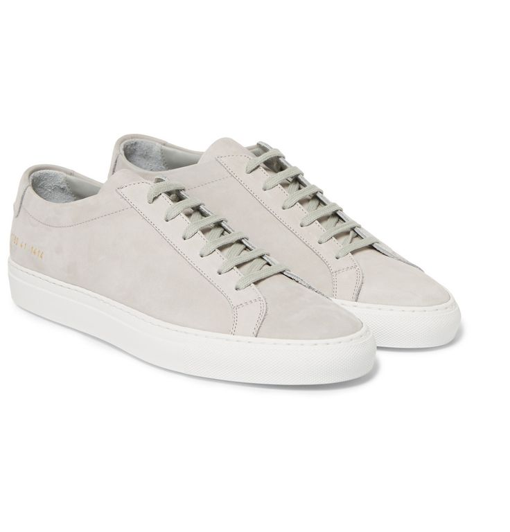 Common Projects - Achilles Nubuck Low Top Sneakers | MR PORTER