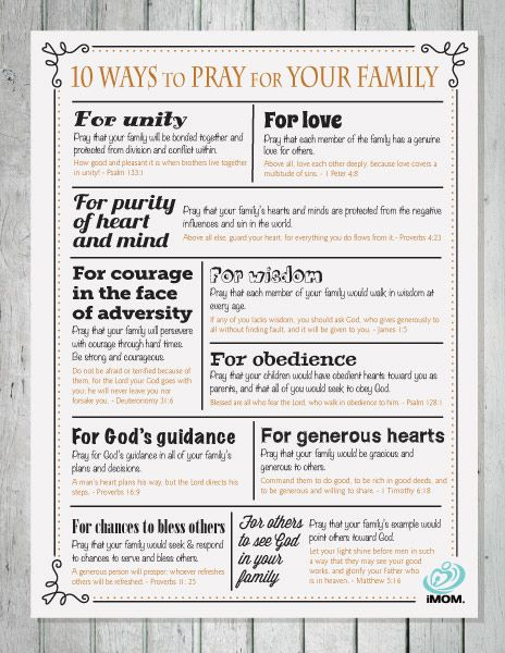 10 Ways to Pray for Your Family - iMom