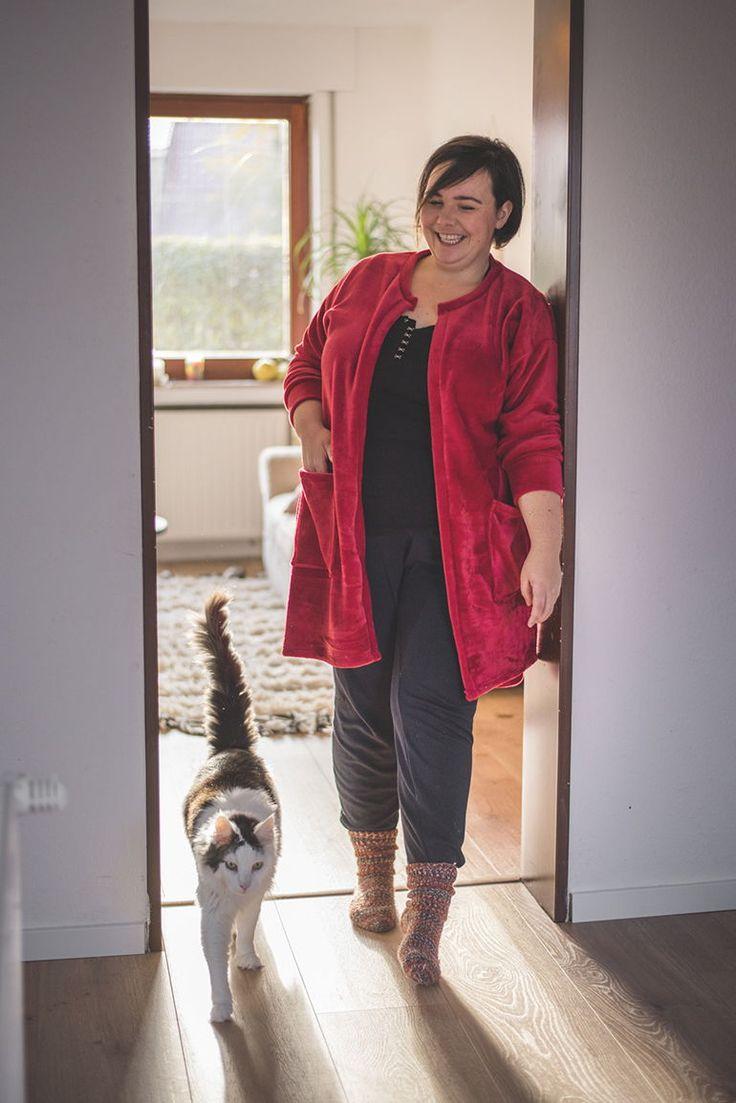 Selbstgenäht: Weihnachten mit meinem roten Cardigan – ebbie & floot – Nähen, Schnittmuster für Plus Size Mode und Plus Size Fashion Outfits