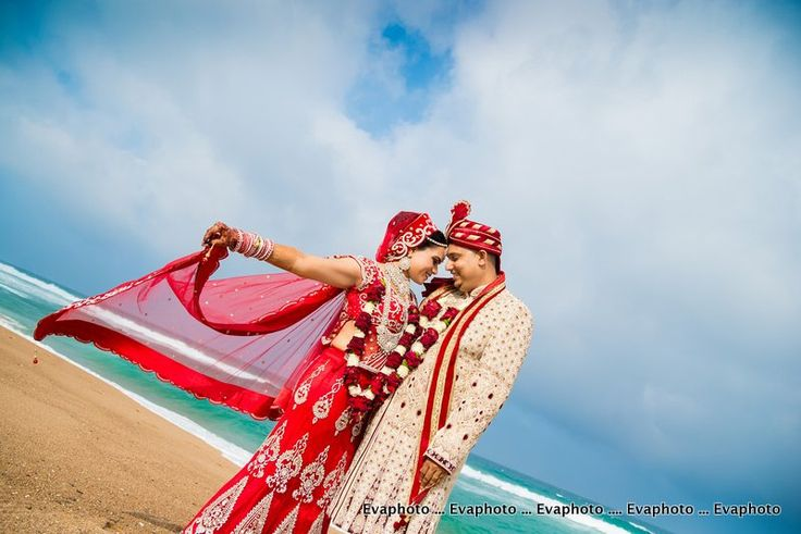 Indian couple on the beach