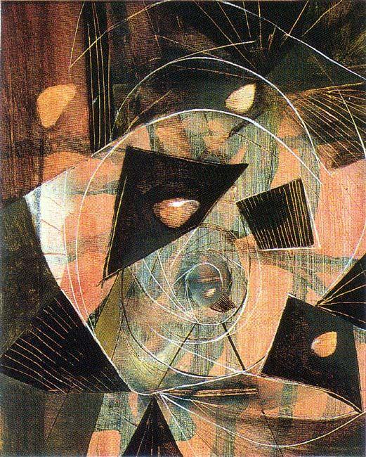 """MATTA - """"L'OEYX"""" 1943 (43/13) 63.5 x 40.6 cm. private collection, California"""
