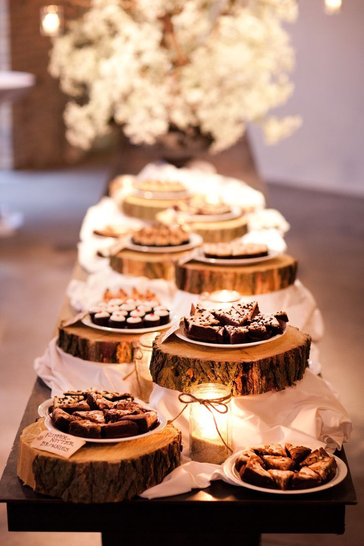 dessert table settings for barn and country weddings                                                                                                                                                                                 More