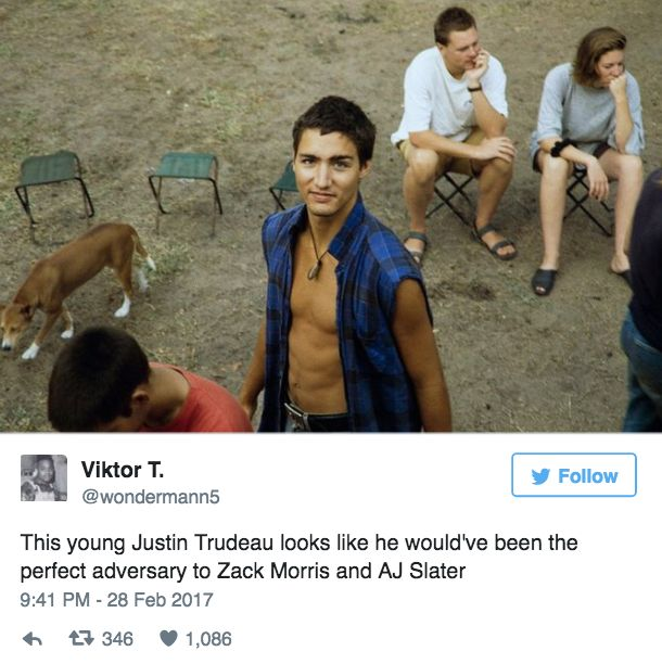 BuzzFeed UK — People Are Shook Over How Hot Young Justin Trudeau...