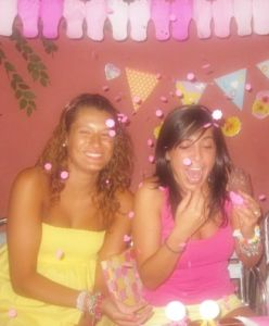 "Fiesta 31. Pink and Yellow "" Bailar con los pies"""