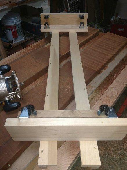 Wood Slab Flattening Jig