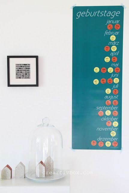 die besten 17 ideen zu geburtstagskalender basteln auf pinterest familien geburtstagskalender. Black Bedroom Furniture Sets. Home Design Ideas
