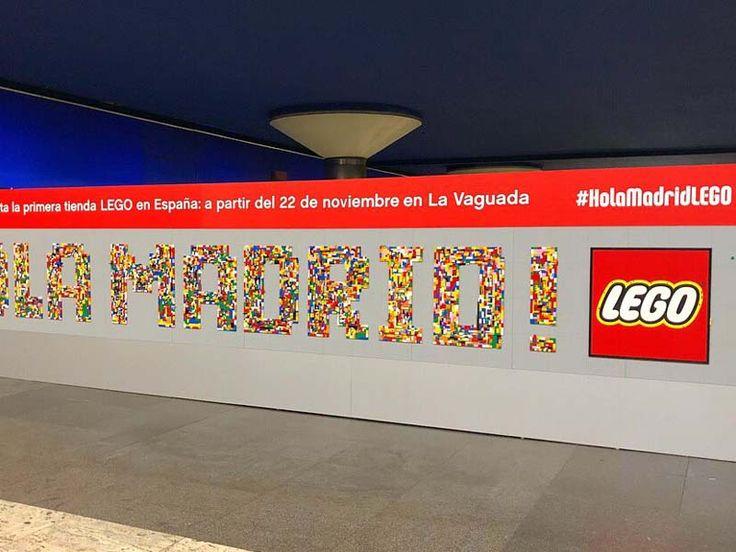 ¡HOLA MADRID! Piezas de Lego en CC La Vaguada
