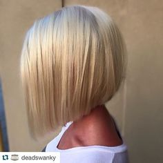 Classic a-line bob hairstyle for fine hair