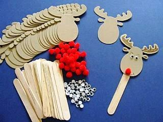 Rudolph Bookmarks - Makes 30, childrens crafts, children's craft supplies