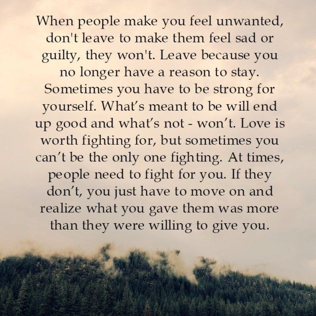 Lessons Learned in Life | When people make you feel unwanted.